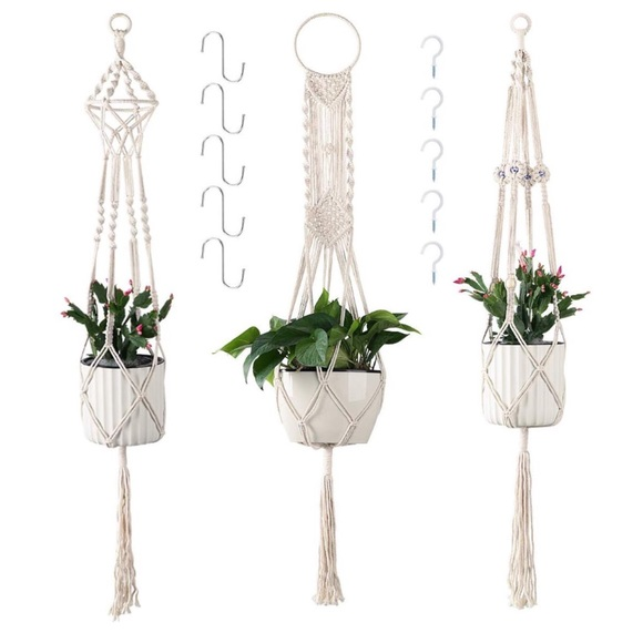 Other - 3 Pcs Hanging Plant Holders, Macrame Hangers